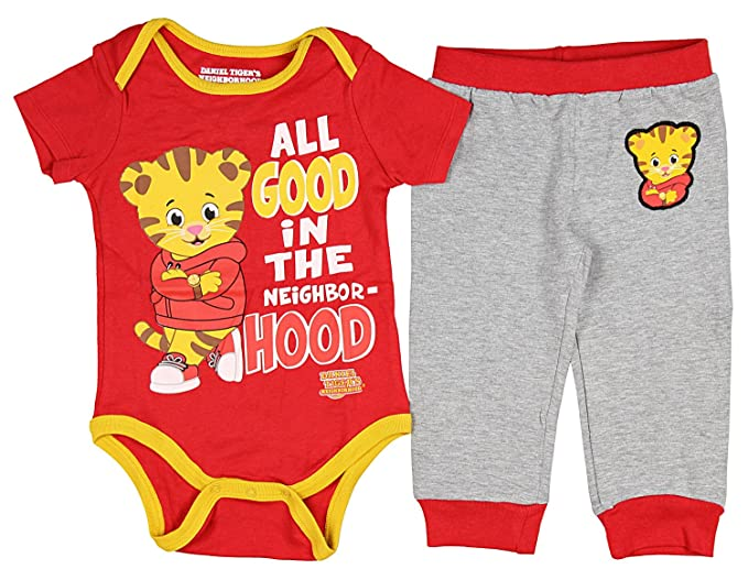 ee7f1375786a Daniel Tiger s Neighborhood Baby Boys  Snapsuit Romper and Pants Pajama ...