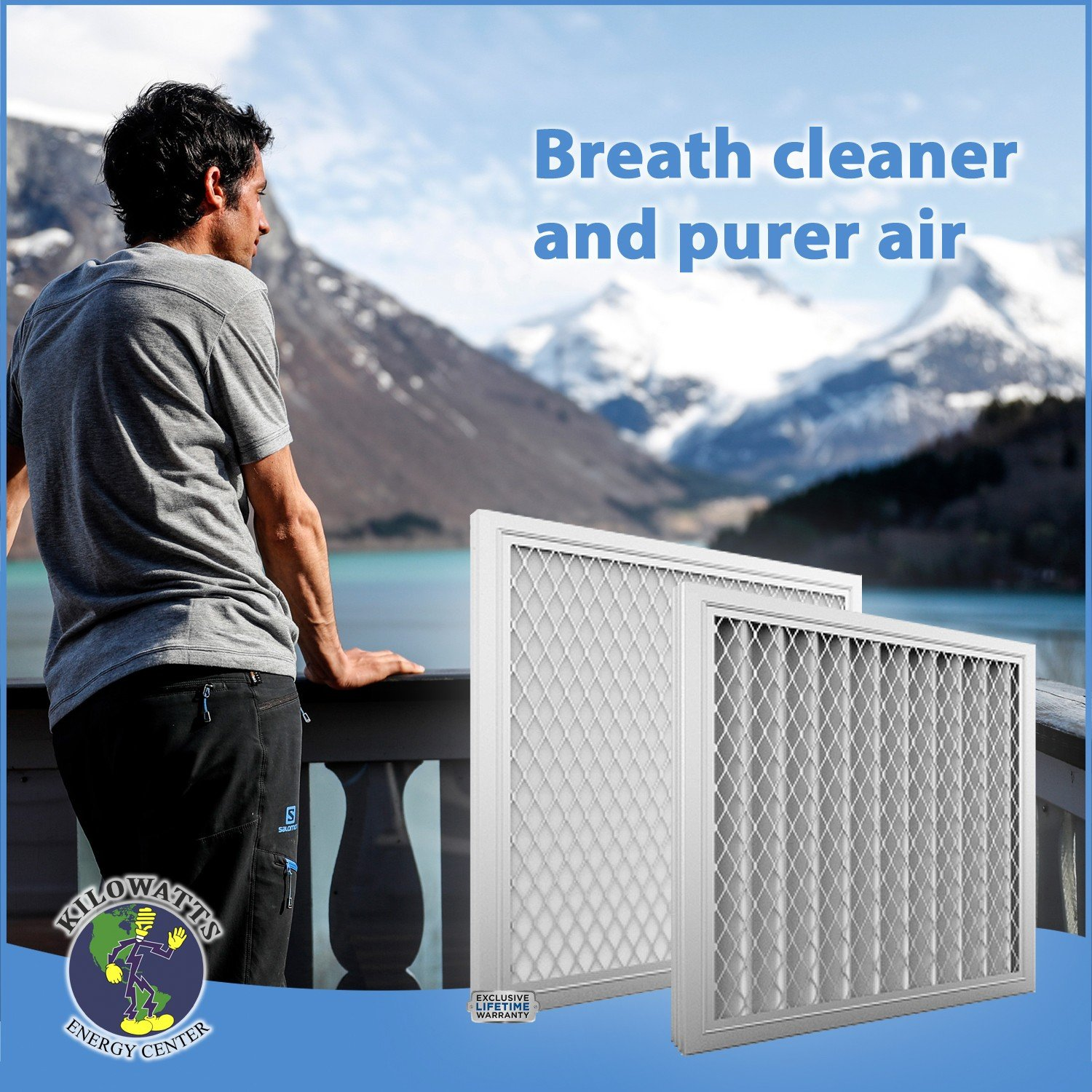 24x30x1 Washable Permanent A/C Furnace Air Filter by Kilowatts Energy Center (Image #6)