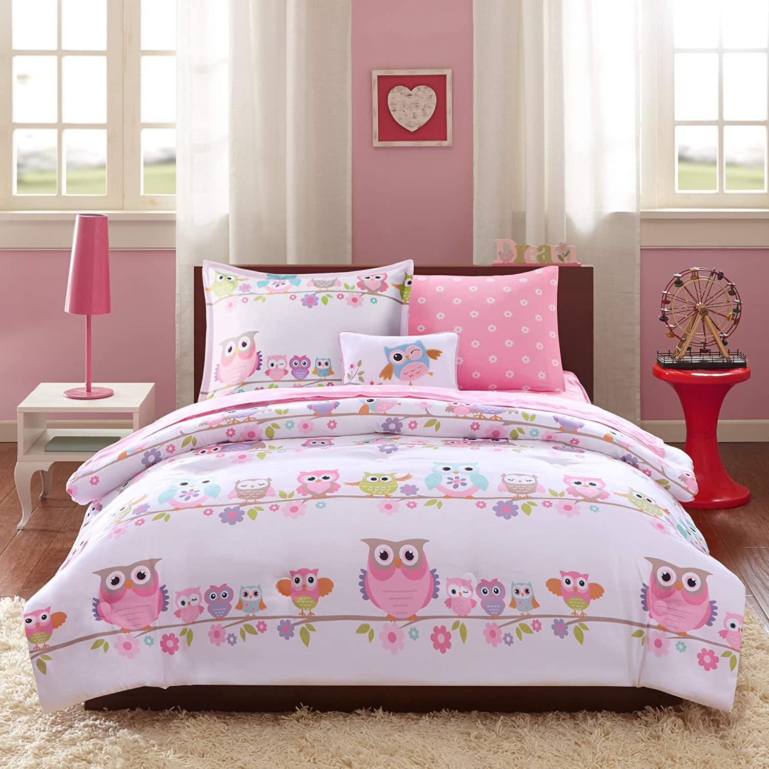 Cute Pink Super Comfortable Kids Bed Sheet Set