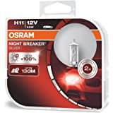 Osram 64211NBS-HCB Night Breaker Phare Halogène Silver H11- 12 V- Set de 2