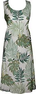 product image for Paradise Found Womens Leaves Short Tank Dress Cream XS