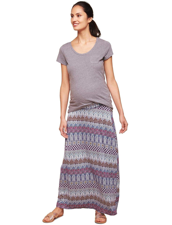 d2b749f48434f Motherhood Smock Waist Under Belly Maternity Maxi Skirt at Amazon Women's  Clothing store: