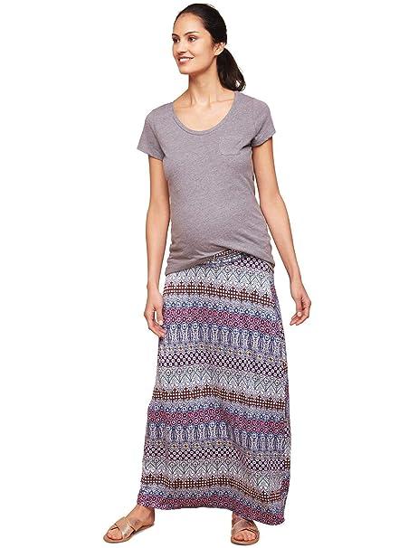 134928fa6ba44 Motherhood Smock Waist Under Belly Maternity Maxi Skirt at Amazon Women's  Clothing store: