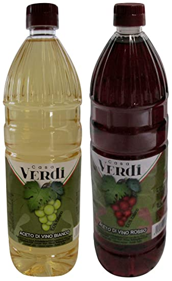 "Casa Verdi: ""Aceto Di Vino Bianco"" White Wine Vinegar & """