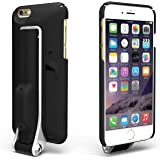 FLIP IT 4-in-1 case black, Selfie Stick Case for iPhone 6 / 6s - Bluetooth Remote + Kickstand