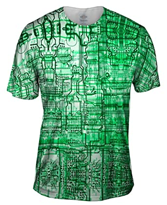 176d256ab Amazon.com: Yizzam- Circuit Board Green -Tagless- Mens Shirt: Clothing