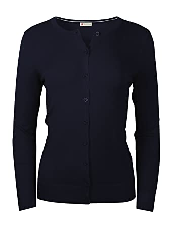 366c22e361 Crew Neck Button Front Cardigan Sweater S-3XL (11 Colors) at Amazon Women s  Clothing store