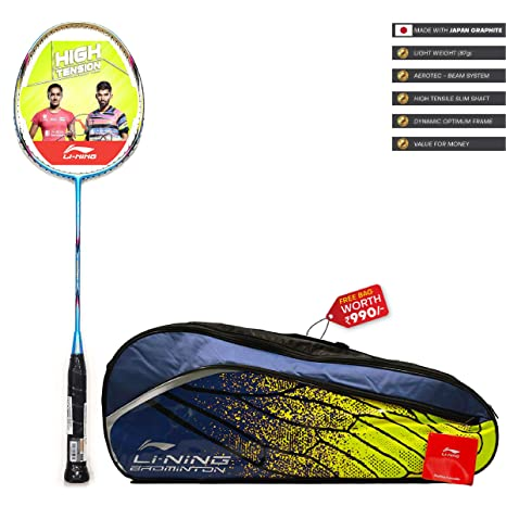 Li Ning SS G4 Series Carbon Graphite Strung Badminton Racquet with Free Kit Bag