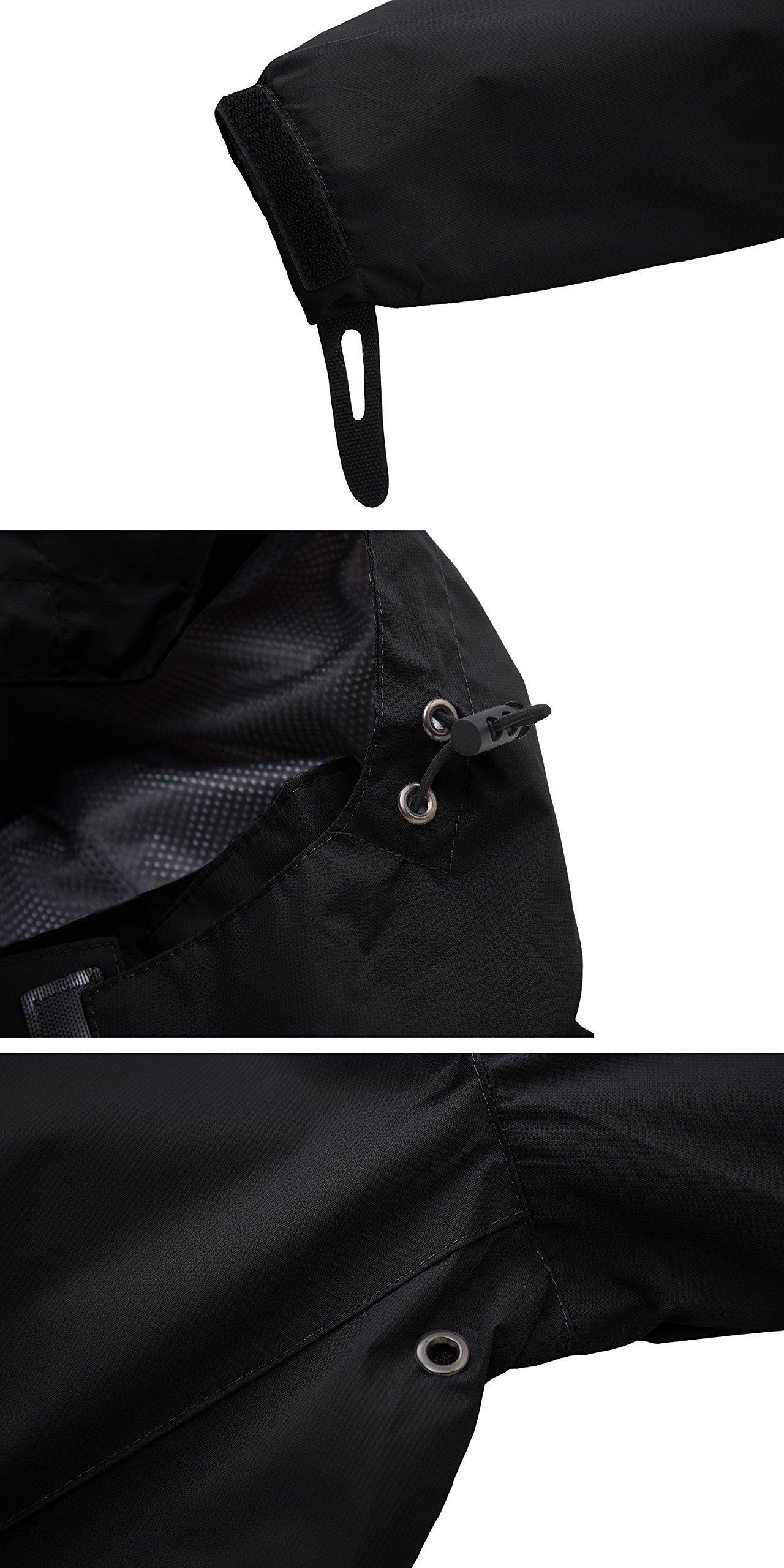 2eca0ffa30ca Wantdo Men s Mountain Windproof Rain Jacket Breathable Hooded ...