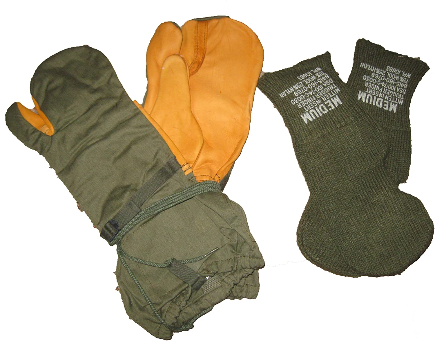 Shell Only Size: Large MILITARY COLD WEATHER TRIGGER FINGER MITTENS U.S
