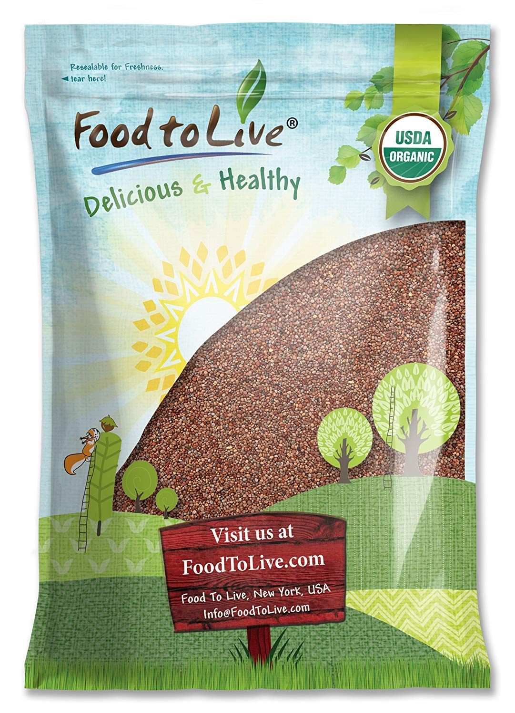 Food to Live Organic Radish Seeds, 5 Pounds - Seeds for Sprouting, Non-GMO, Kosher, Raw, Vegan, Bulk