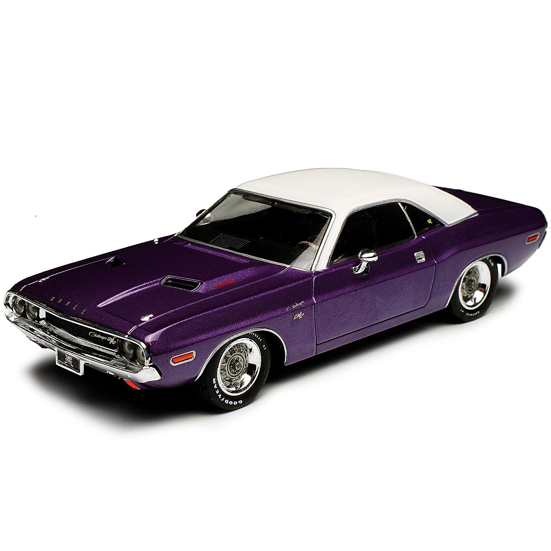 Generation 1969-1974 1//43 Modell Auto mit individiuellem Wunschkennzeichen Greenlight Dodge Challenger R//T Coupe Violett Graveyard Carz 1
