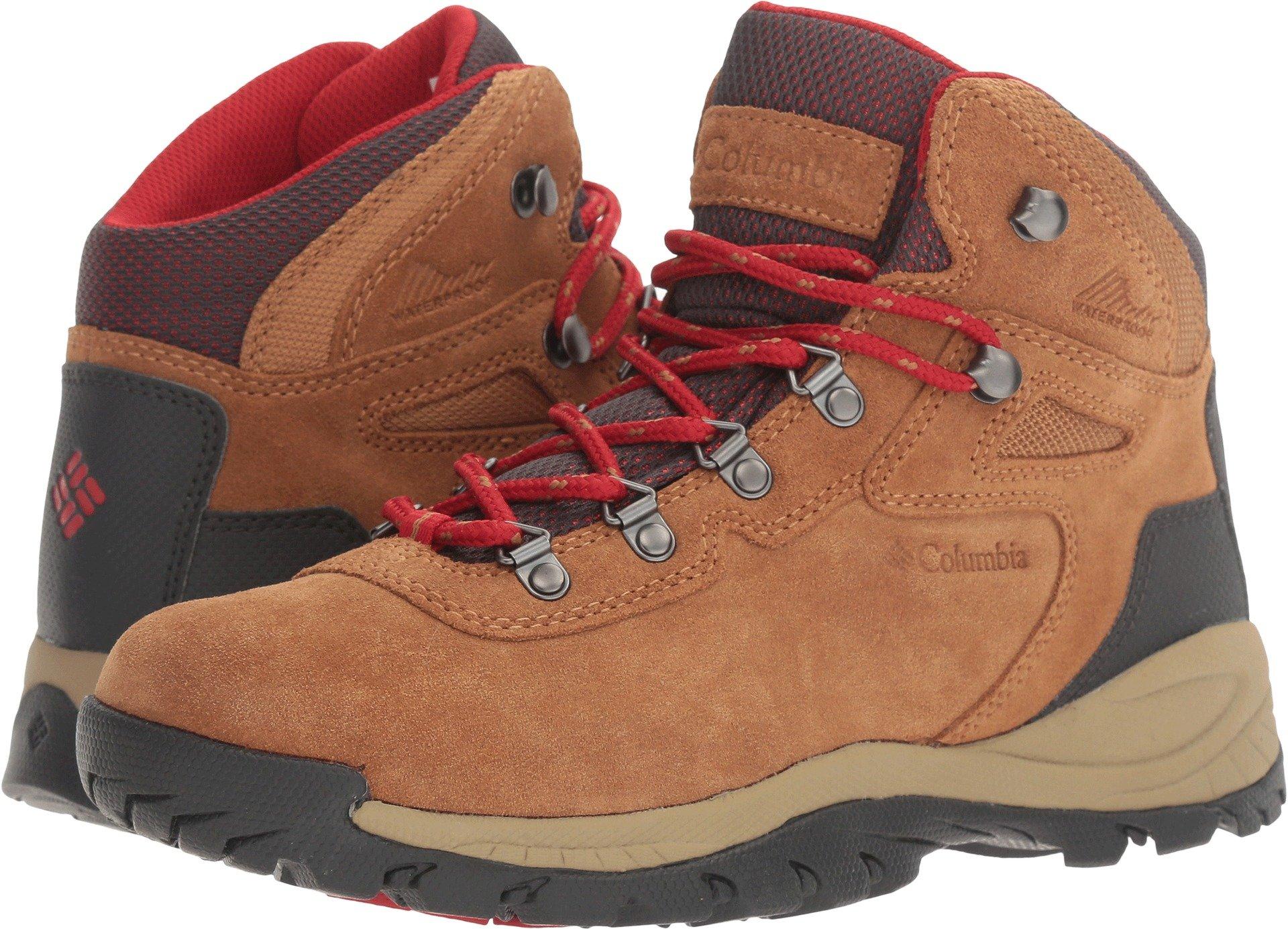 32267725238 Columbia Women's Newton Ridge Plus Waterproof Amped Hiking Boot,  Elk/Mountain Red, 12 Regular US