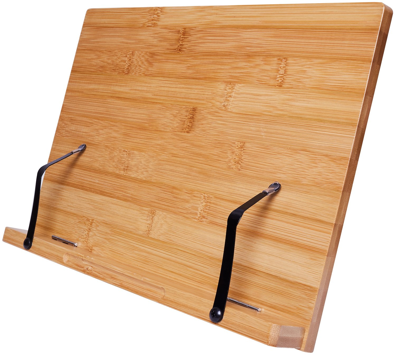 Bamboo Cookbook Stand By Harcas Holder For Books, Ipads, Tablets