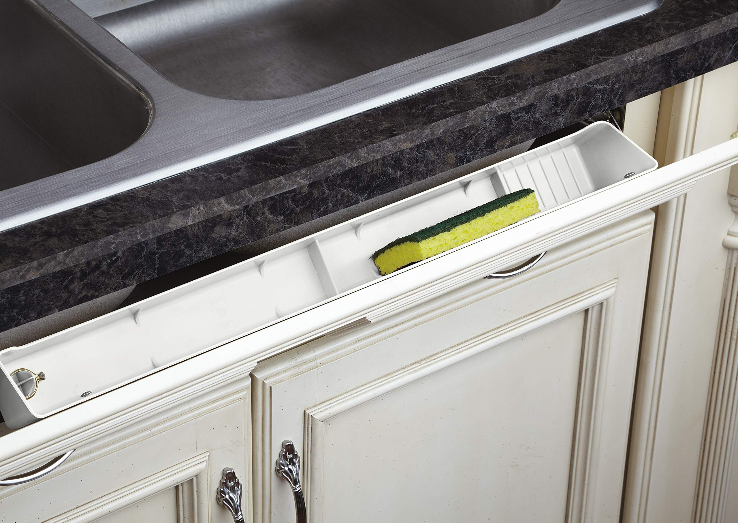 Rev-A-Shelf 22 in White Polymer Lazy Daisy Tip-Out Tray, by Rev-A-Shelf