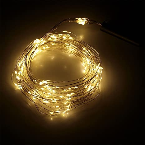 Micro Fairy Lights With 200 Led Warm White Copper Wire 10 Strands 200 Cm Long Decorative Fairy String Lights For Indoor And Outdoor Use Amazon Co Uk Garden Outdoors