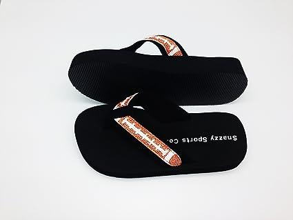 1fd95e79b5a1d Amazon.com   Football Flip Flops   Sports Fan Sandals   Sports ...