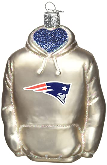 Old World Christmas Glass Blown Ornament New England Patriots Hoodie - Amazon.com: Old World Christmas Glass Blown Ornament New England