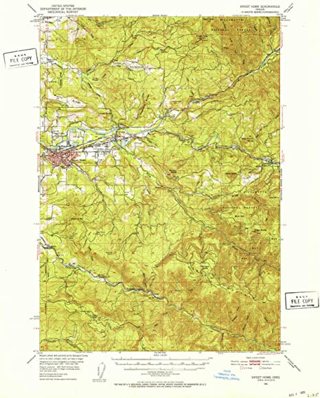 Amazon Com Yellowmaps Sweet Home Or Topo Map 1 62500 Scale 15 X