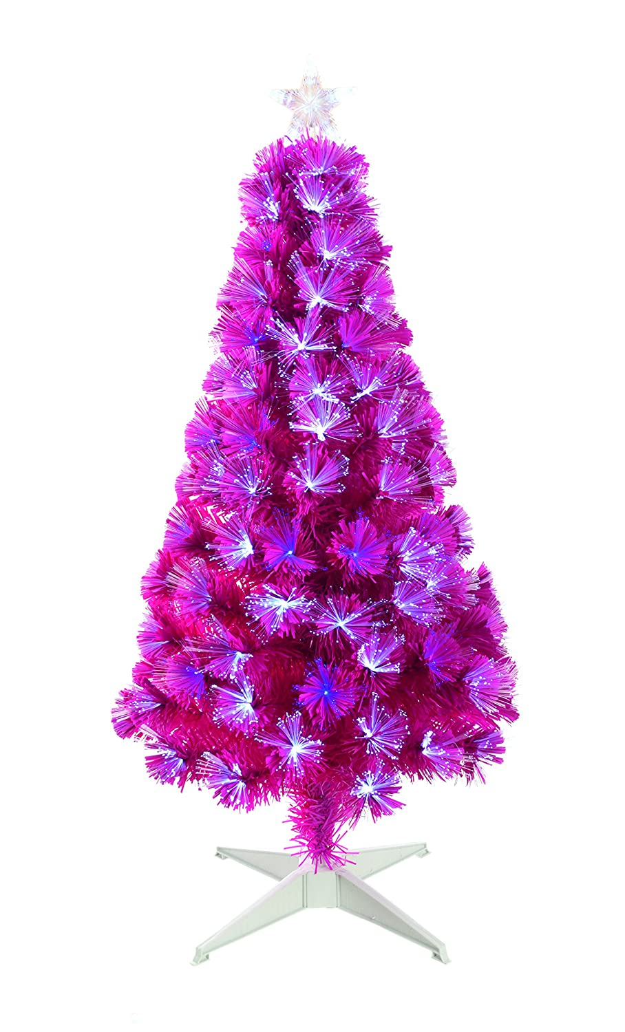 Vibrant Pink Fibre Optic Christmas Tree With White LED Lights 4 Ft:  Amazon.co.uk: Kitchen U0026 Home