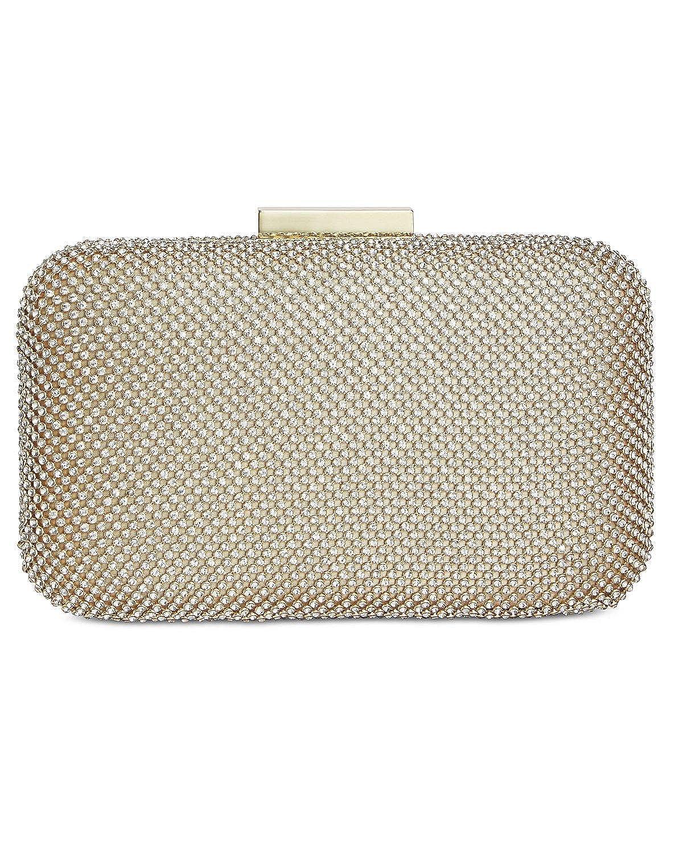 0a880e1c20d6 INC International Concepts Sydneey Gold Sparkle Clutch Crossbody Bag ...