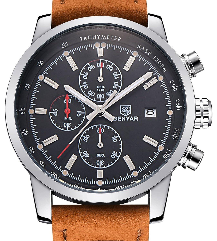 Carlien Luxury Day Date Luminous Hour Clock Male Casual Quartz Watch Men Sport Wristwatch by Carlien