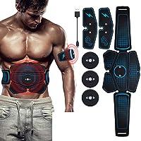 Havenfly Electroestimulador Muscular Abdominales Cinturón,Masajeador Eléctrico Cinturón con USB,EMS Ejercitador del Cuerpo de los Músculos de Brazos y piernas para Hombre Mujer