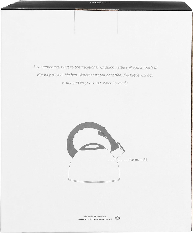 Premier Housewares Fischio Bollitore 2.5 L-Bianco