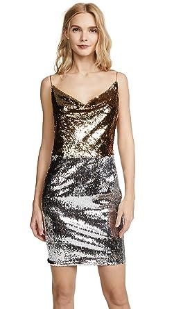 f3a13ec381ccf Amazon.com: Black Halo Women's Lucy Colorblock Dress, Gold/Silver, 8 ...