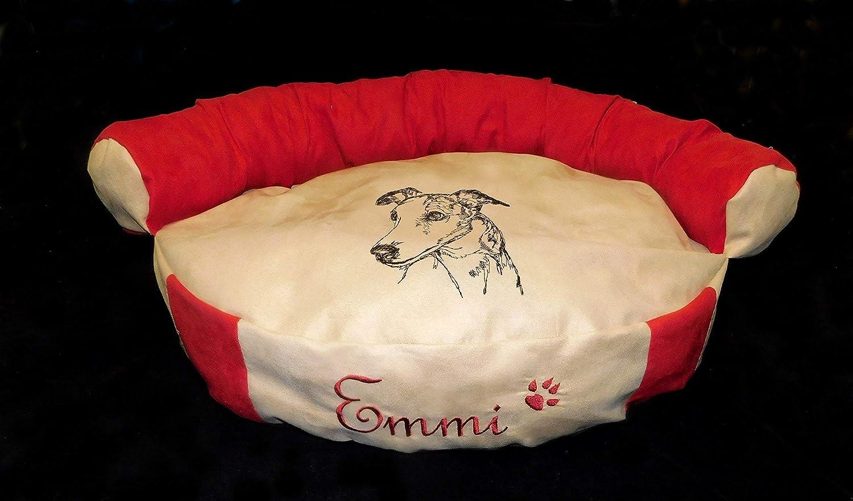 LunaChild Hunde Sofa Hundebett Lounge Hundelounge Whippet Windhund 1 Name Snuggle Bag Größe S M oder L in 14 Farben erhältlich
