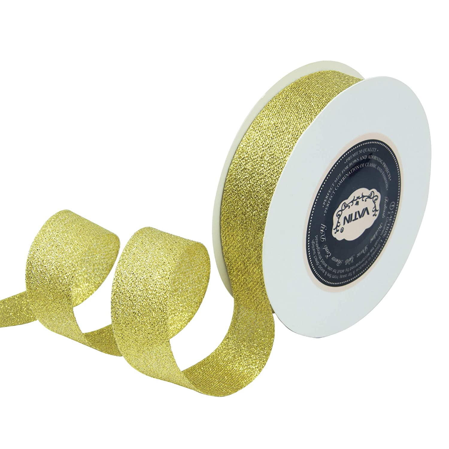 Baby Shower,Packing and Other Projects. 25 Yard Spool VATIN 1 inch Double Faced Polyester Satin Ribbon Forest Green Wreath Perfect for Wedding