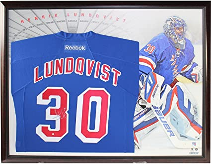 50cdb7ceaa1 Image Unavailable. Image not available for. Color: Henrik Lundqvist Signed  Blue New York Rangers Premier ...