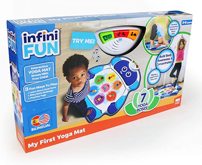 Infinifun My First Yoga Mat, White/Blue