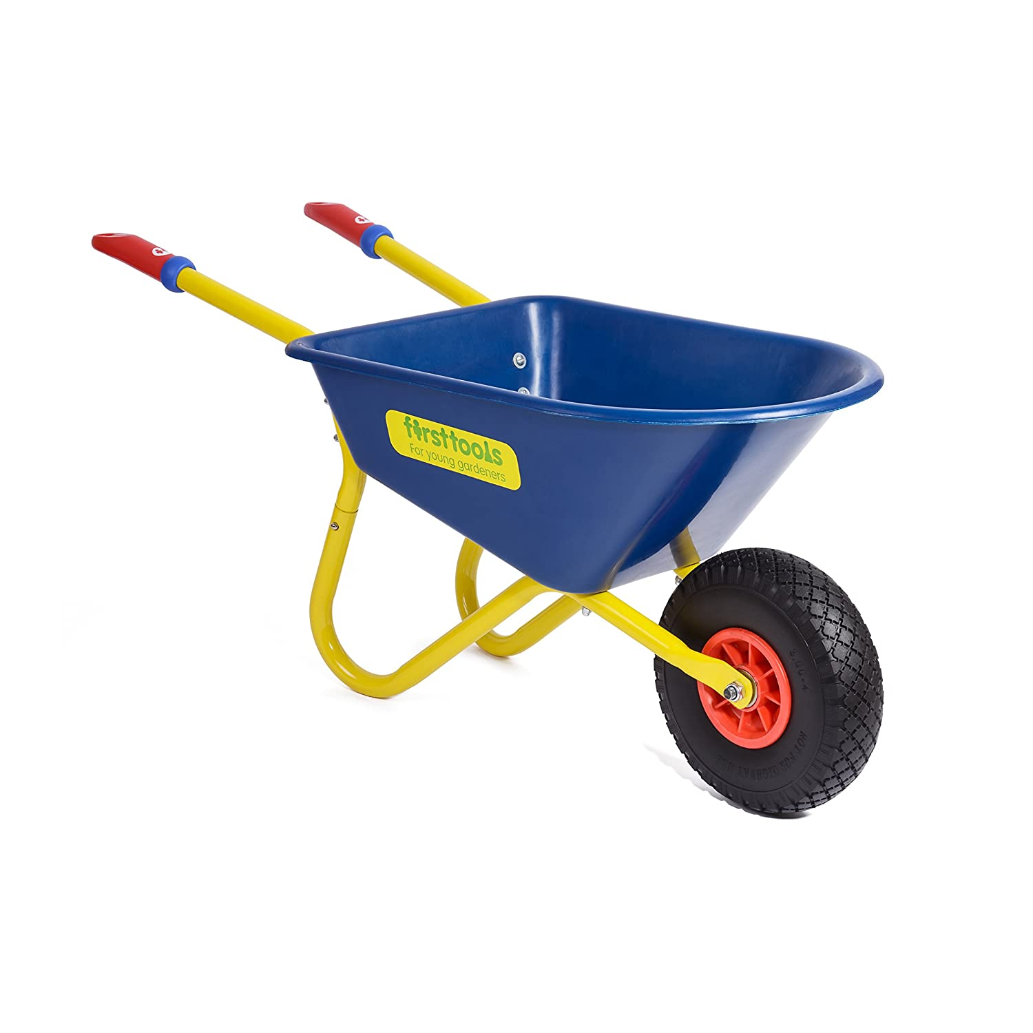 firsttools Kinder Schubkarre, L 100 cm, H 44 cm - robust und langlebig