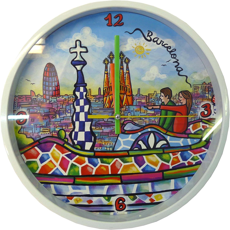 Nadal Reloj Grande Gaudi España, Multicolor, 24,9 x 24,9 x 3,9 cm