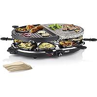 Princess Raclette grill voor maximaal 8 personen, Met steen en Antiaanbaklaag grillplaat, Zwart