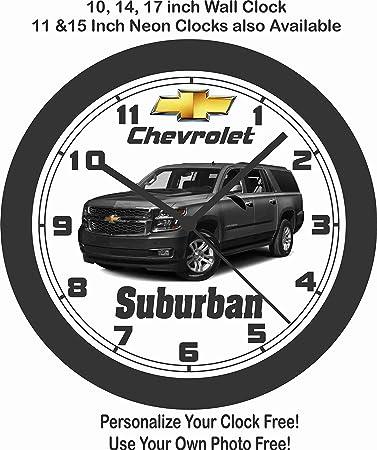 amazon jim s classic clocks 2017 2019 chevrolet suburban wall 1972 Mustang Coupe jim s classic clocks 2017 2019 chevrolet suburban wall clock free usa ship