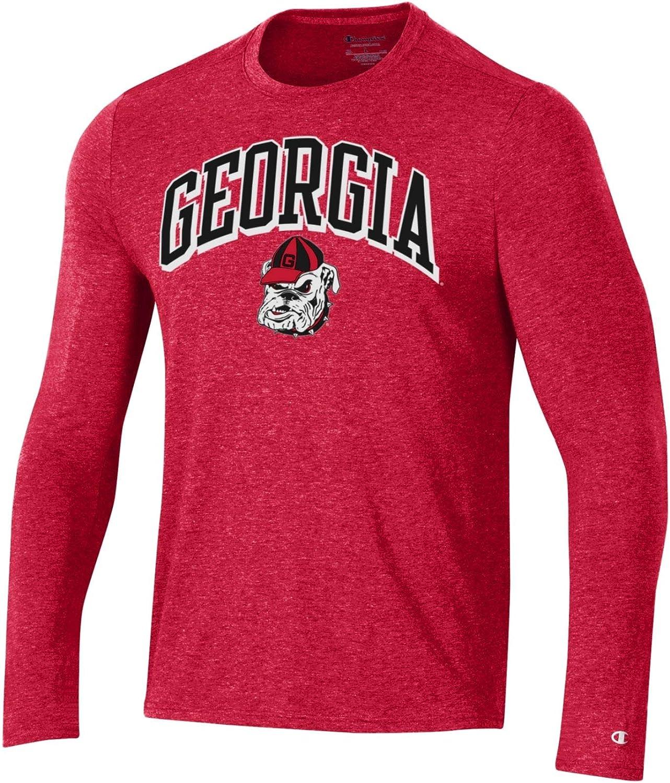 Large NCAA Georgia Bulldogs Mens Mens Field Day Long Sleeve TeeMens Field Day Long Sleeve Tee Scarlet