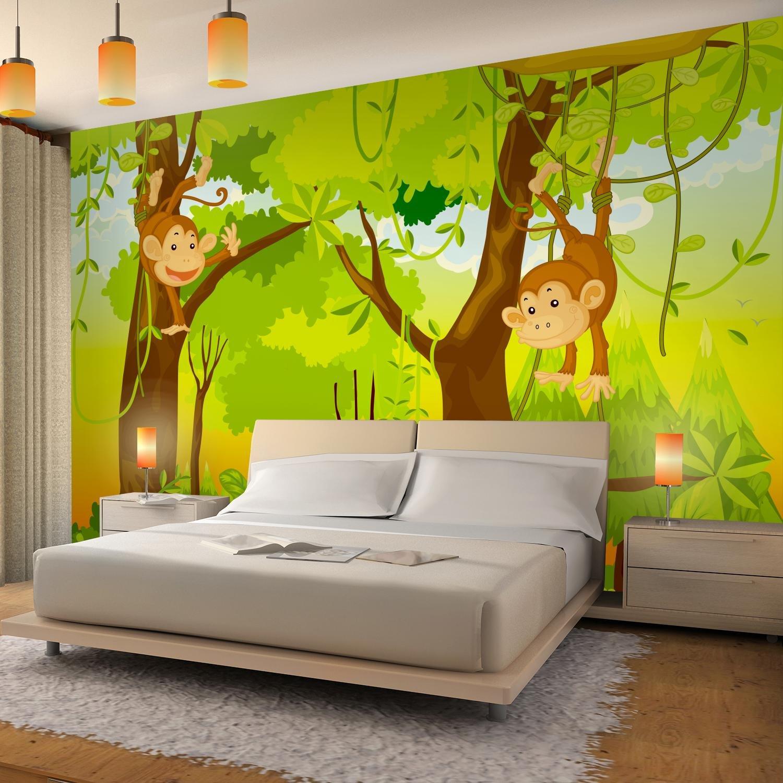 Fototapete Kinderzimmer Affen Dschnungel 396 x 280 cm Vlies ...