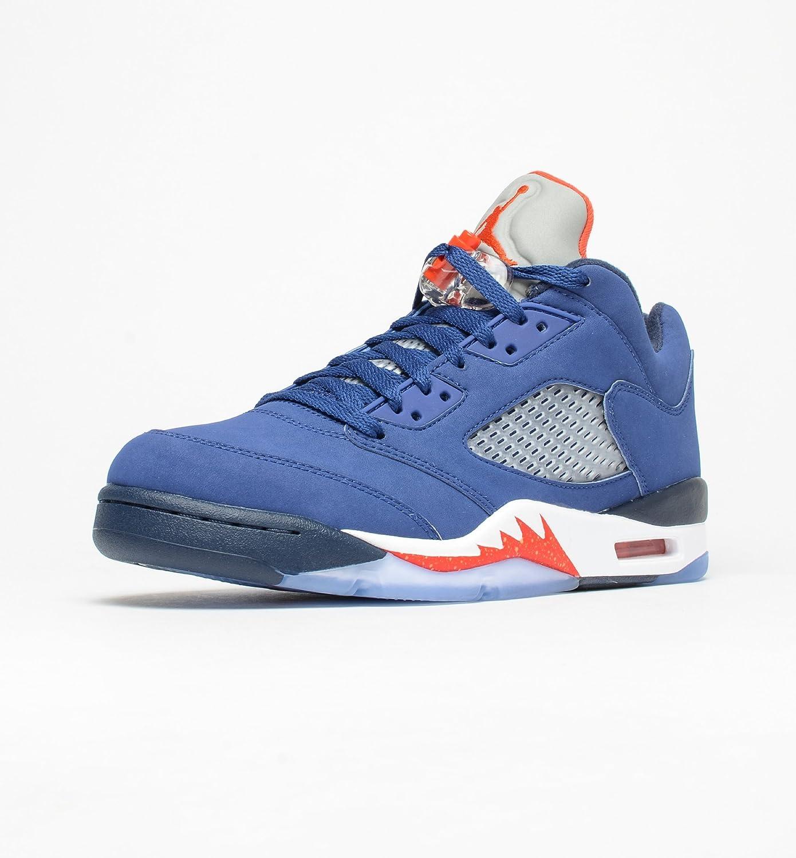 b98b19b75658 70%OFF Men s Nike Air Jordan 5 Retro Low Basketball Shoes Royal Blue 819171-