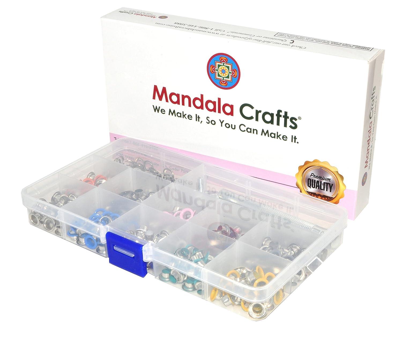 Amazon.com: Mandala Crafts - Kit de ojales de metal con ...