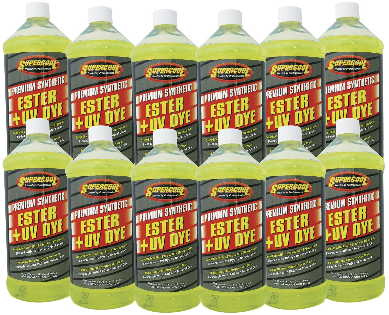 TSI Supercool E32-12CP Ester Oil Plus U/V Dye - 1 quart, 12 Pack by TSI Supercool