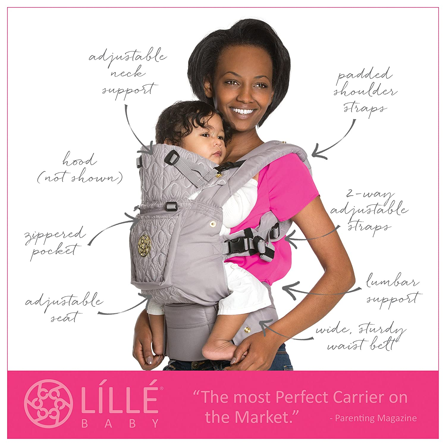 Amazon.com : LÍLLÉbaby The COMPLETE Embossed SIX-Position 360° Ergonomic Baby & Child Carrier, Citrus - Cotton Baby Carrier, Ergonomic Multi-Position ...