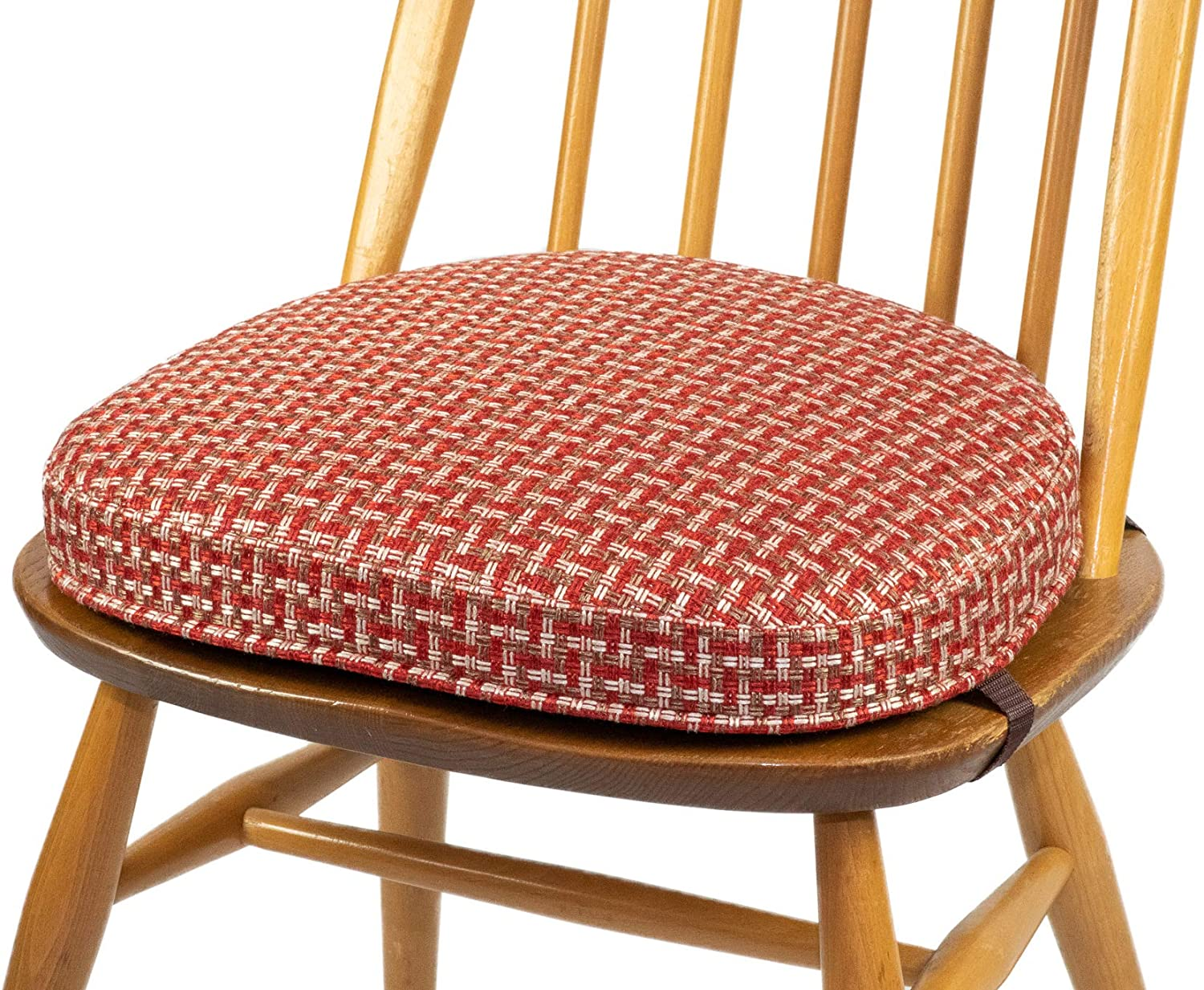 Inspirado Seat Cushion For Ercol Windsor Dining Chair Seat Width 422mm 01 Red Brown And White Order Several If A Set Is Required Amazon Co Uk Kitchen Home
