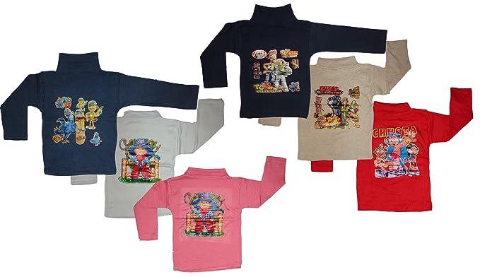 5bc4d91900a KIFAYATI BAZAR Kids Boys and Girls High Neck T Shirt Full Sleeve Cotton Top    Tees