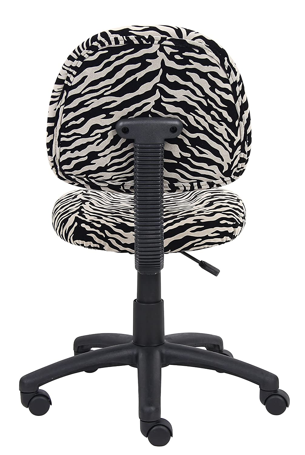 Amazon.com: Boss Office Products B325 ZB Perfect Posture Delux Microfiber Task  Chair Without Arms In Zebra: Kitchen U0026 Dining