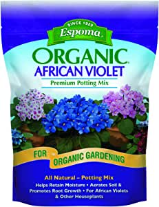 Espoma AV4, Organic African Violet Potting Mix, LAWNGARD , 4-Quart
