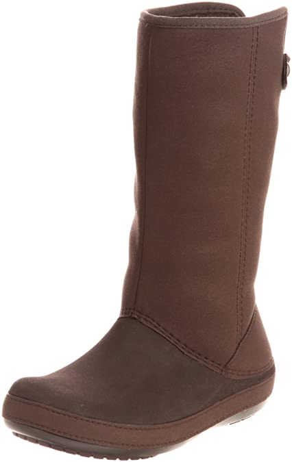 60d804230 Crocs Womens Berryessa Tall Faux Suede Boot Shoes