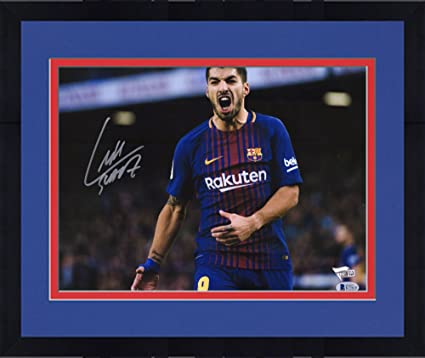 28ddc6b4635 Image Unavailable. Image not available for. Color  Framed Luis Suarez  Barcelona Autographed ...