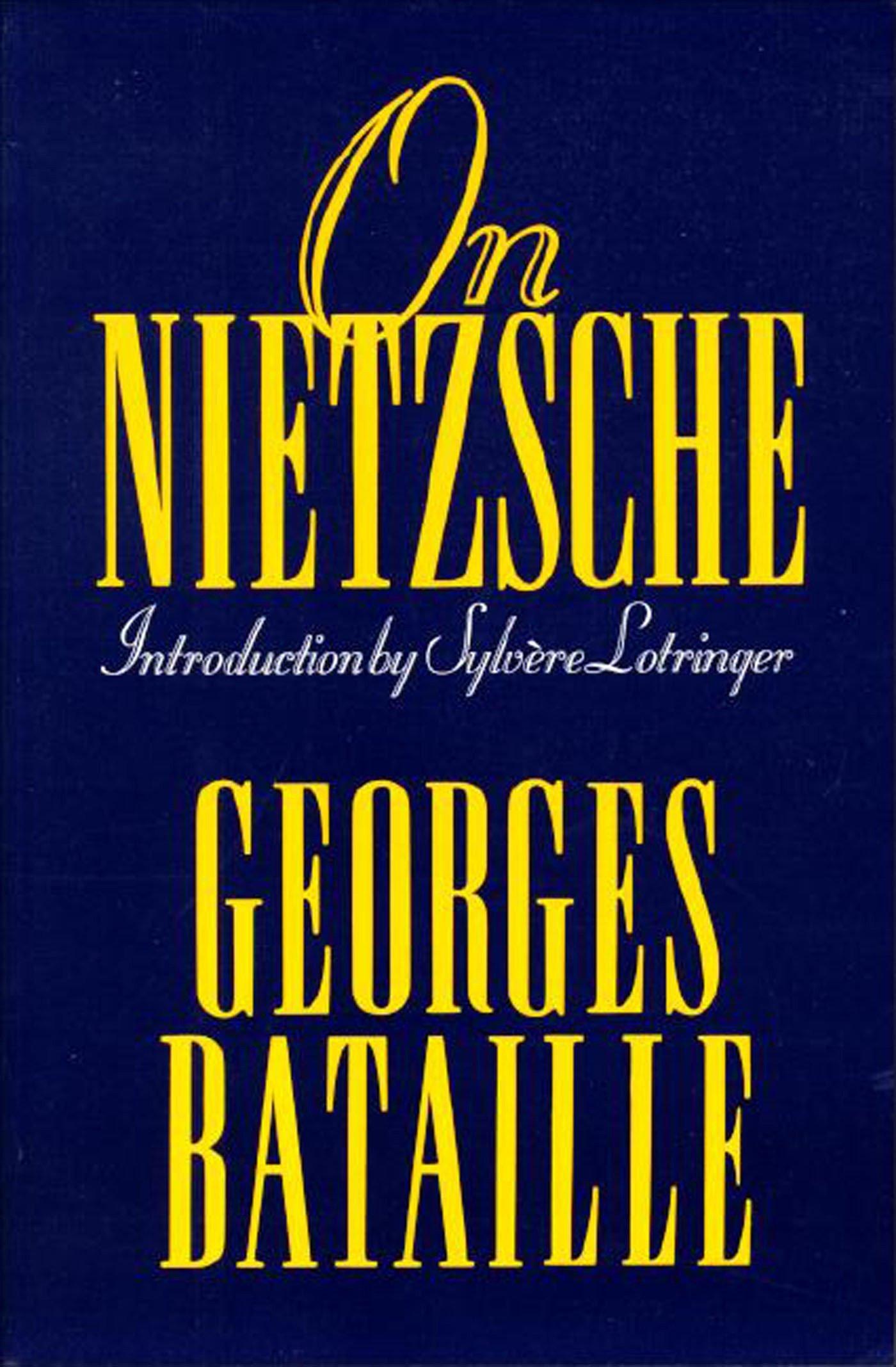 On Nietzsche, trans. Bruce Boone Cover art